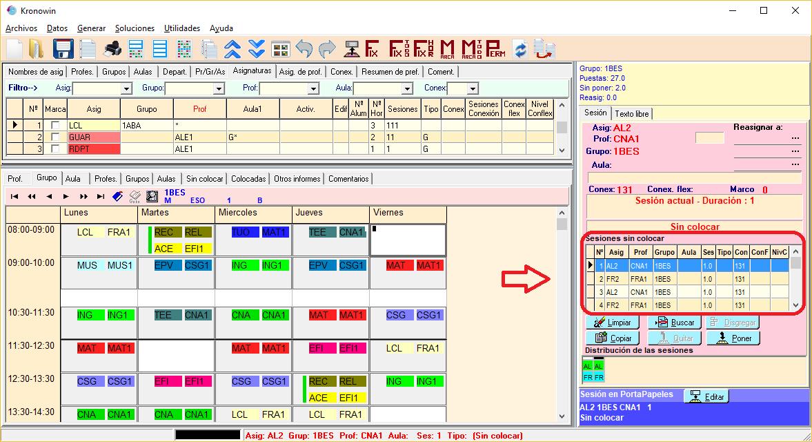 Generador de horarios kronowin m16 informe previo for Horario de oficina correos